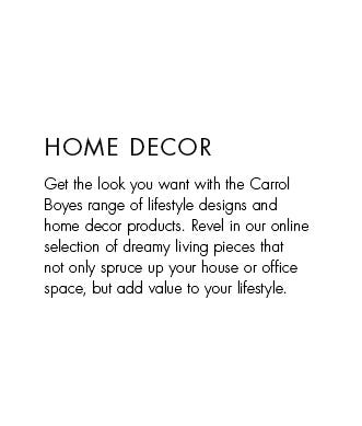 home decor text